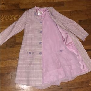 Girls Pink Formal Dress with Coat